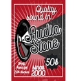 Vintage audio store poster vector image