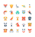Animals and Birds Colored Icons 2 vector image