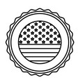 isolated usa seal stamp design vector image