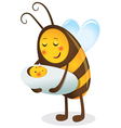Bee mother and child vector image vector image