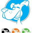 Dog Face Cartoon Icon vector image vector image