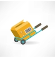 cargo box on the cart icon vector image