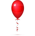 Red Balloon with ribbon isolated on white vector image vector image