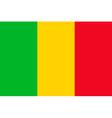 malian flag vector image vector image