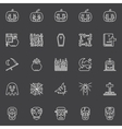 Halloween dark icons set vector image