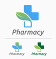 Medical pharmacy logo design vector image
