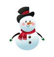 christmas snowman decoration celebration vector image