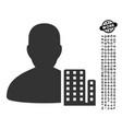 city architect icon with job bonus vector image