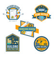 construction home repair and interior icons vector image