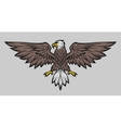 Eagle mascot spread wings Color version vector image