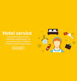 hotel service banner horizontal concept vector image