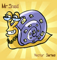mr snail with style vector image