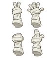 Mummy hand vector image