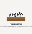 Press conference vector image