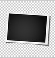retro realistic photo frame placed on transparent vector image