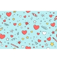 Seamless pattern with hearts for Valentine Day vector image