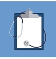 stethoscope and clipboard isolated on white vector image