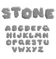 stone alphabet vector image