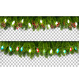 two christmas holiday boards with branches of vector image