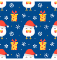 New year christmas seamless pattern background vector image