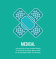 first aid plaster band medical health care vector image