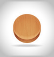 wooden app icon on the gradient background vector image