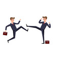 Business fight club karate businesspeople and vector image