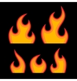 Red Fire Flames Set vector image