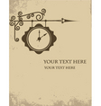 vintage watch making sign wall vector image vector image
