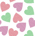 knitted hearts vector image
