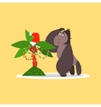 Gorilla and Christmas Palm Tree vector image