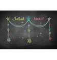 Christmas garland with stars vector image