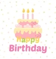 Birthday cupcake icons vector image