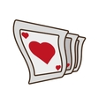 cartoon pocker playing card magician vector image
