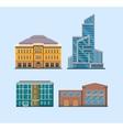Flat City Buildings vector image