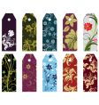 floral bookmark vector image