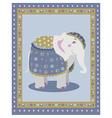 Indian elephant posing vector image