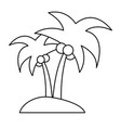 isolated island with palm tree icon image vector image