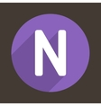 Letter N Logo Flat Icon Style vector image