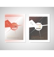 Modern abstract geometric background White Cover vector image