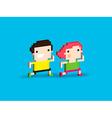 Pixel Runners vector image