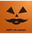 pumpkin portrait with mustache for vector image
