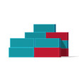 shipping containers stack vector image