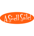 Swell sale retro sign vector image