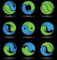 Yin Yang logos and icons vector image