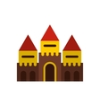Fairy tale castle icon flat style vector image