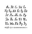 hand drawn alphabet letters drawn by brush vector image