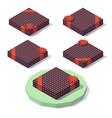gift box with polka dots vector image