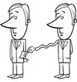 businessman and taxes cartoon vector image