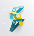 Abstract infographics design with numbered vector image vector image